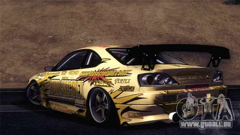 Nissan Silvia S15 TopSecret für GTA San Andreas zurück linke Ansicht