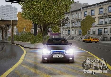 Mercedes-Benz E280 Beta pour GTA 4 est une vue de l'intérieur