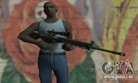 Fusil de sniper de L4D pour GTA San Andreas troisième écran