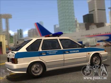 VAZ 2114 Police DPS pour GTA San Andreas vue de dessous