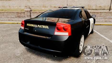 Dodge Charger 2010 LCHP [ELS] pour GTA 4 Vue arrière de la gauche