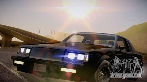 Buick Regal GNX pour GTA San Andreas sur la vue arrière gauche