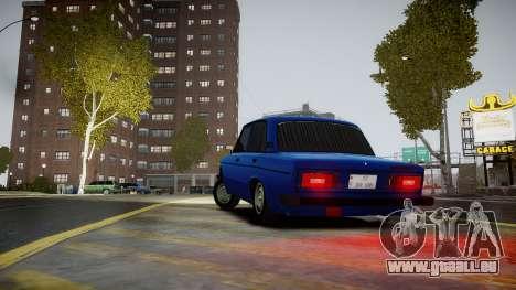 VAZ 2106 Baku pour GTA 4 Vue arrière de la gauche