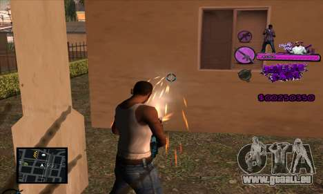 C-HUD Ballas Gang pour GTA San Andreas troisième écran