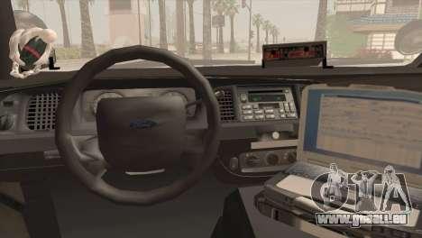 Ford Crown Victoria Police Interceptor 2009 für GTA San Andreas Rückansicht