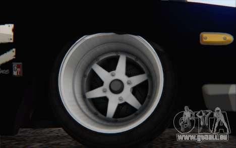 Nissan Skyline 2000 GTR Drift pour GTA San Andreas sur la vue arrière gauche