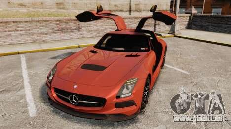 Mercedes-Benz SLS 2014 AMG Black Series pour GTA 4 est une vue de dessous