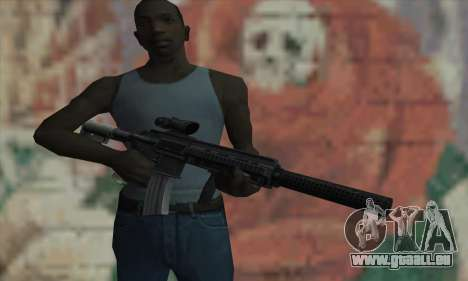 M416 with ACOG sight and silenced pour GTA San Andreas troisième écran