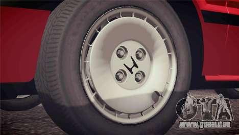 Honda Civic Si 1986 HQLM für GTA San Andreas Innenansicht