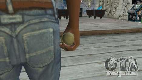 M39 Einhandgranate für GTA San Andreas dritten Screenshot