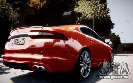 Jaguar XF-R 2012 v1.1 für GTA 4 rechte Ansicht