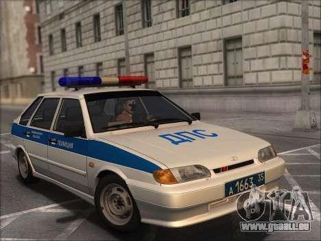 VAZ 2114 Police DPS pour GTA San Andreas vue arrière