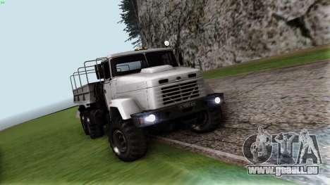 Kraz 6322 pour GTA San Andreas vue arrière