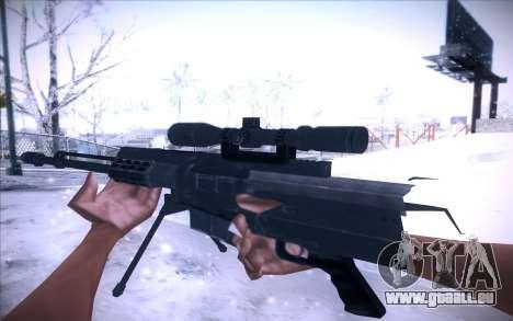 Barrett AS50 pour GTA San Andreas deuxième écran