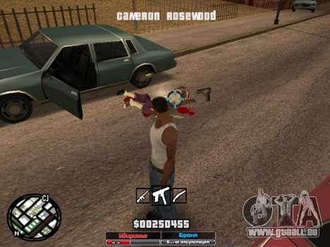 Cleo Hud Cameron Rosewood für GTA San Andreas her Screenshot
