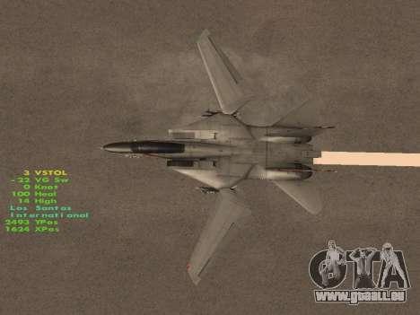 F-14 LQ für GTA San Andreas Unteransicht