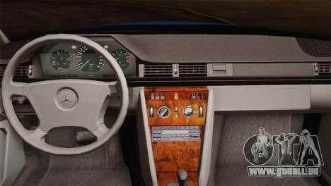 Mercedes-Benz E320 W124 für GTA San Andreas Innenansicht