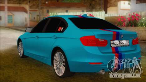 BMW 328d 2014 für GTA San Andreas linke Ansicht