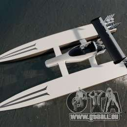 Dragboat Twin V8 für GTA 4 rechte Ansicht