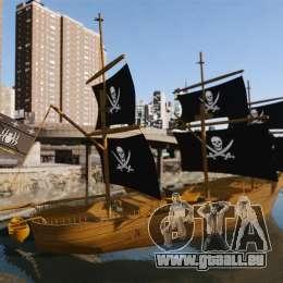 Piratenschiff für GTA 4 linke Ansicht