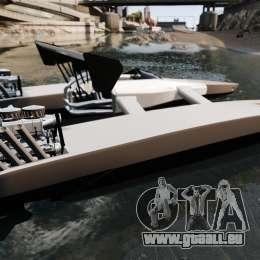 Dragboat Twin V8 für GTA 4 linke Ansicht