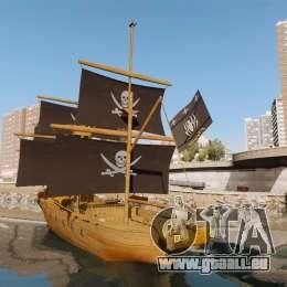 Bateau pirate pour GTA 4 Vue arrière de la gauche