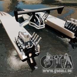 Dragboat Twin V8 pour GTA 4 Vue arrière de la gauche