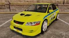 Mitsubishi Lancer Evolution VII 2002 pour GTA 4