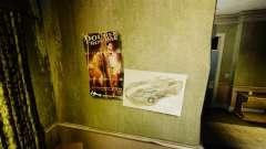 Neue Plakate in der Wohnung des Romans