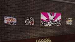 Neue Plakate in der Wohnung Playboy