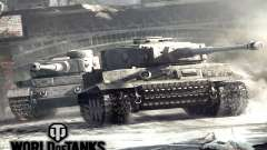 L'écran de démarrage de World of Tanks
