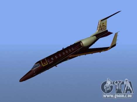 Bombardier Learjet 45 für GTA San Andreas Rückansicht