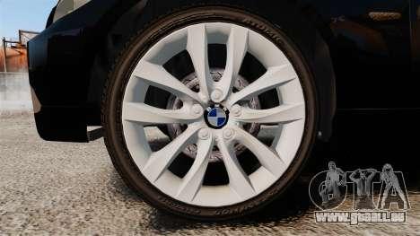 BMW 350i Japanese Police [ELS] für GTA 4 Rückansicht
