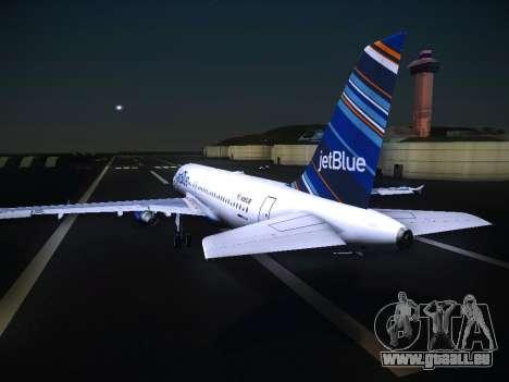 Airbus A320 JetBlue pour GTA San Andreas vue arrière