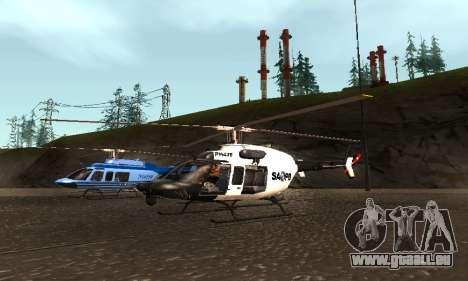 Bell 407 SAPD für GTA San Andreas rechten Ansicht