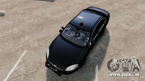 Chevrolet Impala 2010 LS Unmarked K9 Unit [ELS] pour GTA 4 est un droit