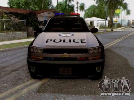 Chevrolet TrailBlazer Police für GTA San Andreas rechten Ansicht