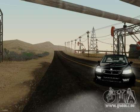 Skoda Octavia A7 pour GTA San Andreas sur la vue arrière gauche
