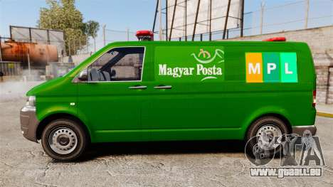 Volkswagen Transporter T5 Hungarian Post [ELS] pour GTA 4 est une gauche