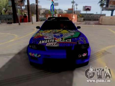 Nissan GT-R R33 HellaFlush V2 für GTA San Andreas linke Ansicht