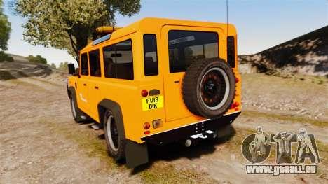 Land Rover Defender tecnovia [ELS] pour GTA 4 Vue arrière de la gauche