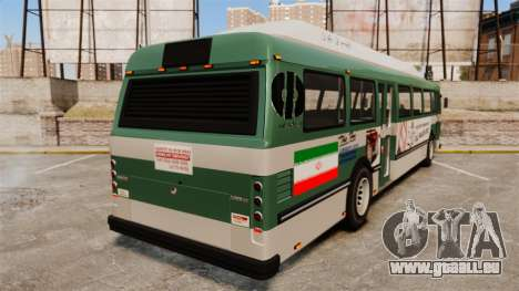 Iranische Farbe bus für GTA 4 hinten links Ansicht