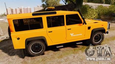 Land Rover Defender tecnovia [ELS] pour GTA 4 est une gauche