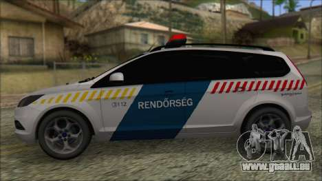 Ford Focus 2008 Station Wagon Hungary Police pour GTA San Andreas laissé vue