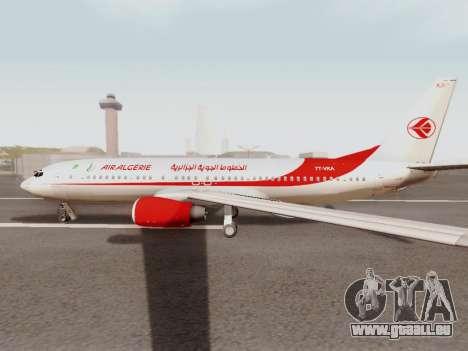 Boeing 737-800 Air Algerie pour GTA San Andreas sur la vue arrière gauche