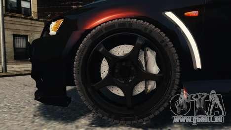 Mitsubishi Lancer Evolution X 2008 Black Edition pour GTA 4 est un côté