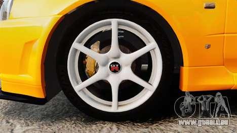 Nissan Skyline ER34 GT-R pour GTA 4 Vue arrière