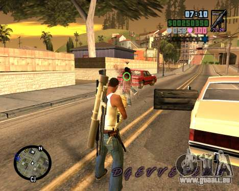 C-HUD Vice Sity pour GTA San Andreas