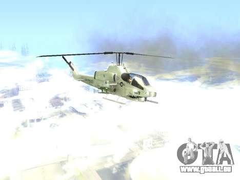 AH-1W Super Cobra pour GTA San Andreas vue arrière