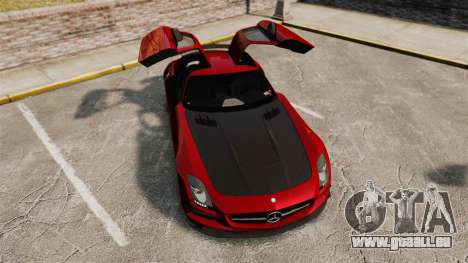 Mercedes-Benz SLS 2014 AMG GT Final Edition pour GTA 4 vue de dessus